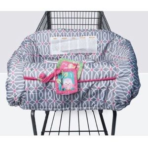 Boppy High Chair Shopping Cart Cover Grey Pink